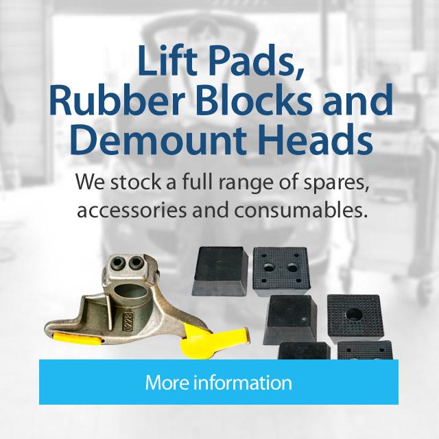 Lift Pads, Rubber Blocks and Demount Heads