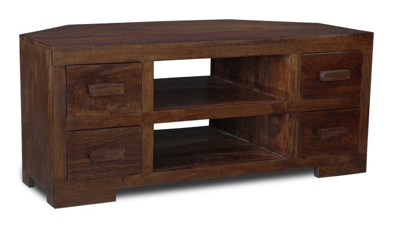 Manhattan Furniture Solid Mango Corner Tv Unit H13d Ebay
