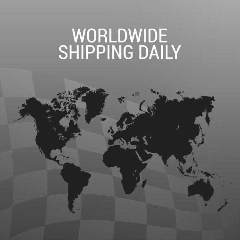 Worldwide shipping daily